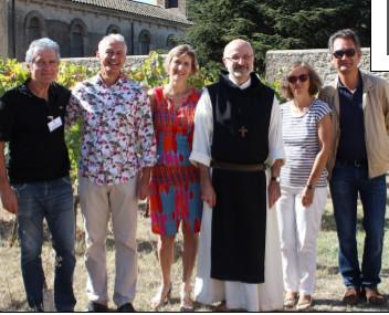 De gauche à droite : Jacques Rémond, M et Mme Kopteff, le Père Vladimir Gaudrat, Mme et M. Pénicaut.